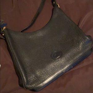 D&B black leather purse